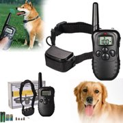 Waterproof 300M 100LV LCD Remote Dog Pet Training Collar Shock Vibrate