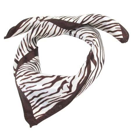 Unique Bargains Women Zebra Pattern Square 20.5