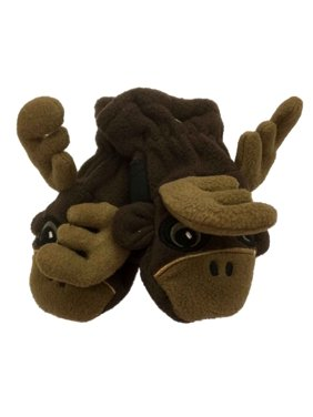 CP Infant Boys Brown Microfleece Moose Mittens