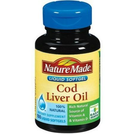 Nature Made Cod Liver Oil Softgels 100 Ea  Pack Of 2