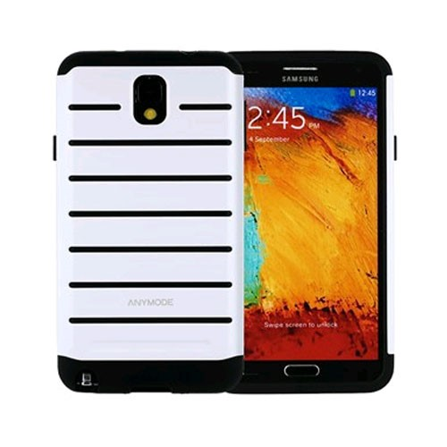 anymode rugged case for samsung galaxy note 3 - white