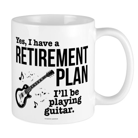 (CafePress - Guitar Retirement Plan Mugs - Unique Coffee Mug, Coffee Cup CafePress)