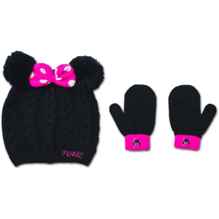 425c08756ca Minnie Mouse - Baby Toddler Girl Hat and Mitten Set - Walmart.com