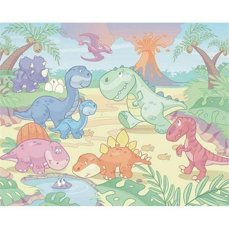 Baby Dino World Wall Mural - 96 in. - image 1 de 1