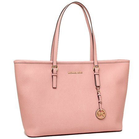 7756c2c3e7b786 Michael Kors - Jet Set Travel Medium Saffiano Leather Top-Zip Tote - Pale  Pink - 30T5GTVT2L-695 - Walmart.com