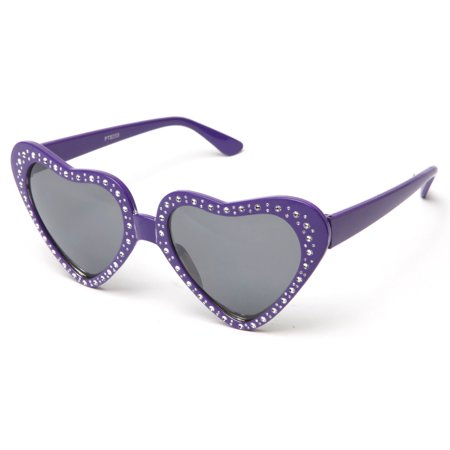 Kyra Gorgeous Sparkled Bling Heart Design Party Oversized Party Props  Sunglasses