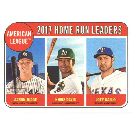 2018 Topps Heritage #5 Aaron Judge/Joey Gallo/Khris Davis New York Yankees/Texas Rangers/Oakland Athletics Baseball Card