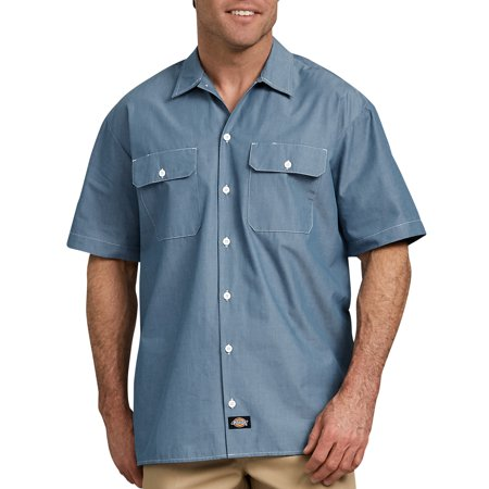 Relaxed Fit Short Sleeve Shorts (Big Men's Relaxed Fit Short Sleeve Chambray Shirt )