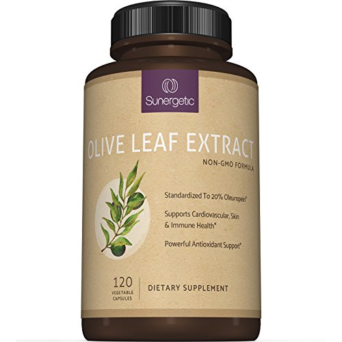 Premium Olive Leaf Extract Capsules - Standardized To 20% Oleuropein - Super Strength Olive Leaf Exact Supplement Helps Support Immune, Skin & Cardiovascular Health - 750mg Per Capsule - 120 Capsules