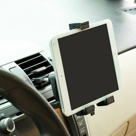Car Mount Ac Air Vent Tablet Holder Rotating Cradle Swivel Dock Stand Black Yxr For Amazon Fire Kids Edition  Kindle   Ipad 2 3   Asus Google Nexus 2 7   Barnes   Noble Nook Color Hd Hd