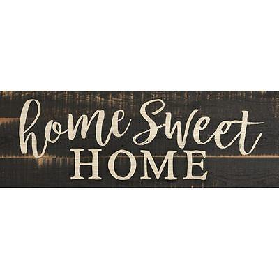 Home Sweet Home Script Design Black Distressed 16 x 6 Inch ...