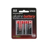 Monoprice AA Alkaline Battery, 8-Pack