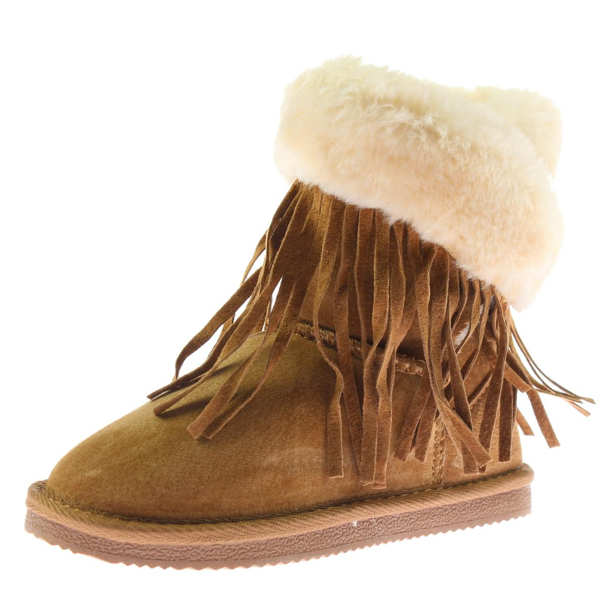 Lamo Girls Fringe Wrap Suede Casual Boots by Lamo