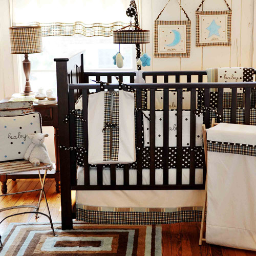 My Baby Sam Mad About Plaid 3pc Crib Bedding Set, Blue