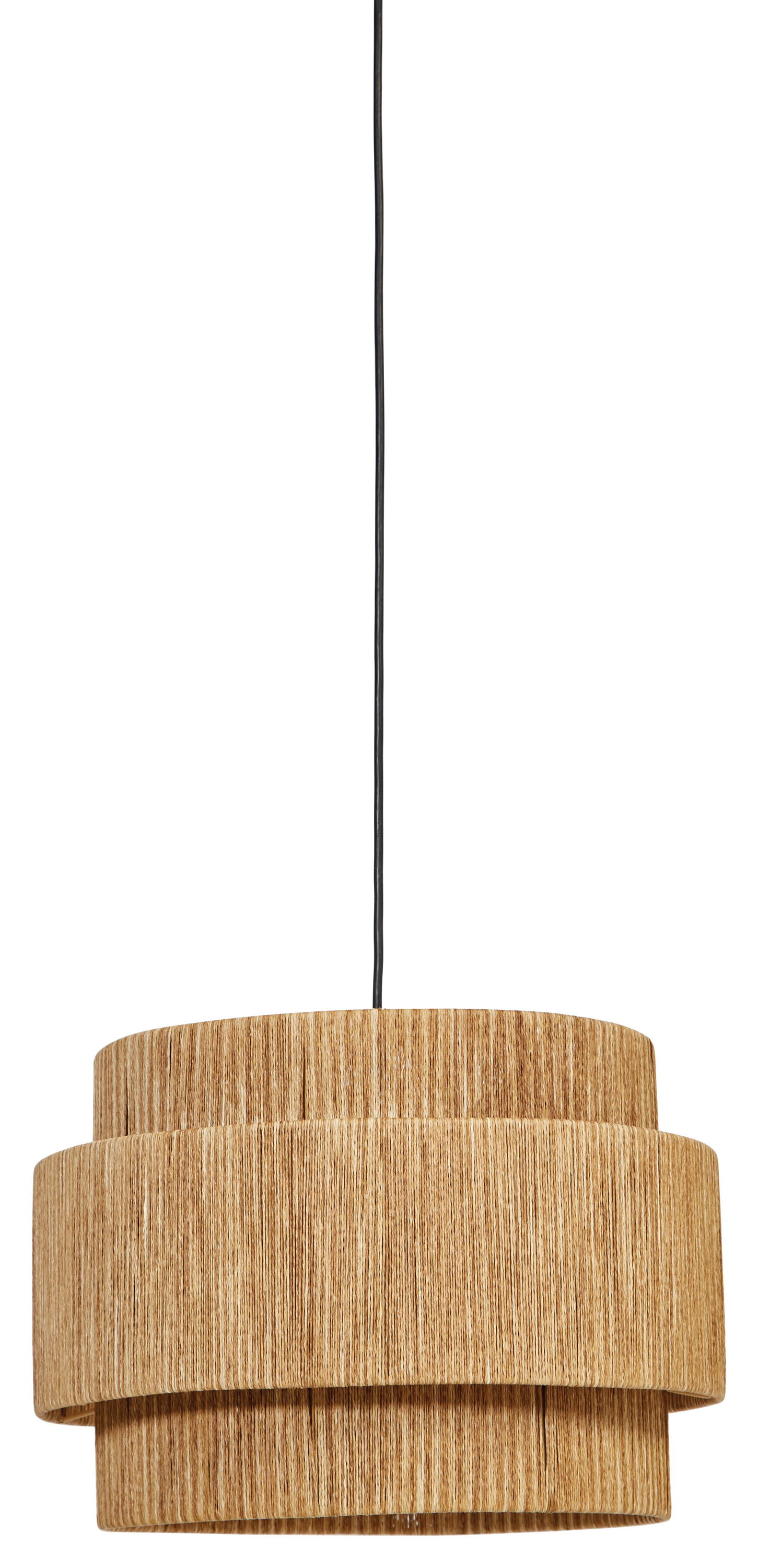 Creative Co Op 3 Tier Woven Paper String Pendant Light With 4 Cord Hardwire Only Walmart Com Walmart Com