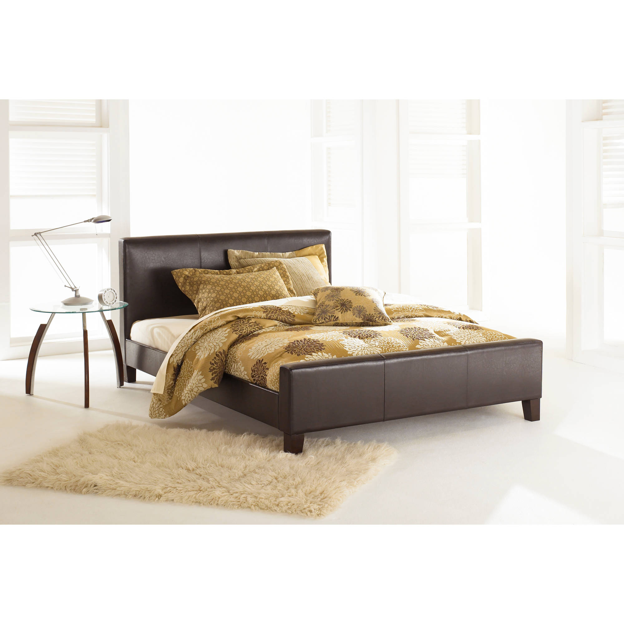 Leggett & Platt Fashion Bed Group Euro King Bed Headboard and Slats, Sable