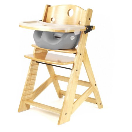(Keekaroo Height Right High Chair Natural with Black Infant Insert and Tray)
