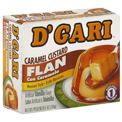 D'Gari Caramel Custard Flan, 5 oz, (Pack of 24)