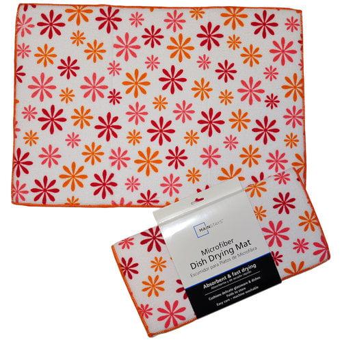 Mainstays Dish Drying Mat, Floral Print