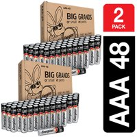 Energizer Max Powerseal Alkaline AAA Batteries, 96 Count (2 x 48 Packs)