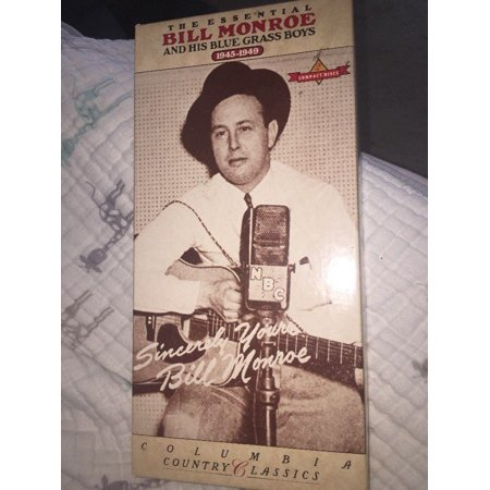 Bill Monroe Bluegrass Music - the essential bill monroe and his blue grass boys columbia Two Audio Cd