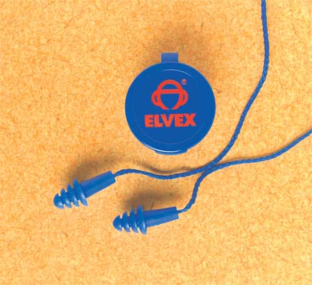 ELVEX Ear Plugs,Reusable,25dB,Blue,PK50 EP-412