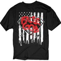 Batman VS Superman - False God Flag Graffiti Logo Adult T-Shirt