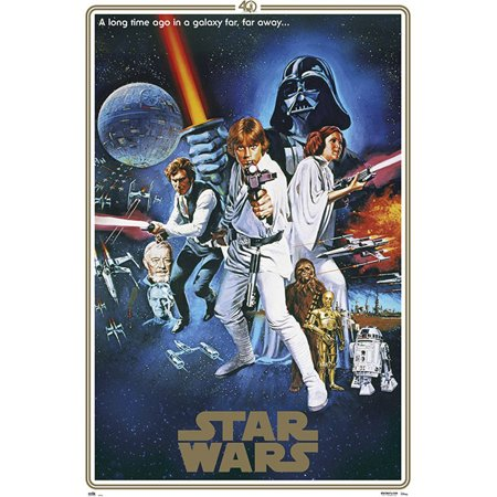 Star Wars: Episode IV - A New Hope - Movie Poster / Print (40th Anniversary Gold Border Edition - Regular Style C) (Size: 24