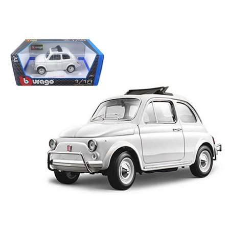 1968 Fiat 850 - 1968 Fiat 500 L White 1/18 Diecast Model Car by Bburago