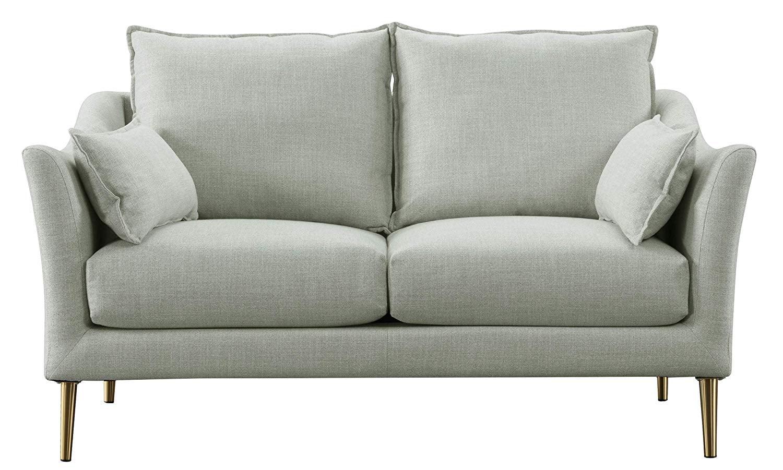 Picture of: Acanva Luxury Mid Century Modern Living Room Sofa Loveseat Light Grey Walmart Com Walmart Com