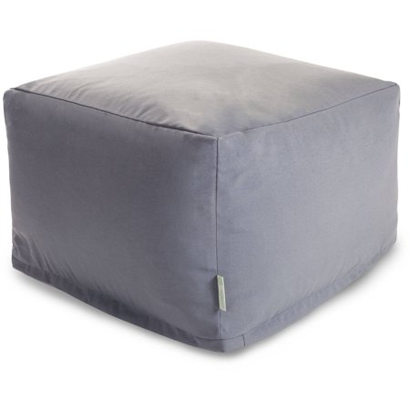 Majestic Home Goods Solid Color Bean Bag Ottoman Indoor