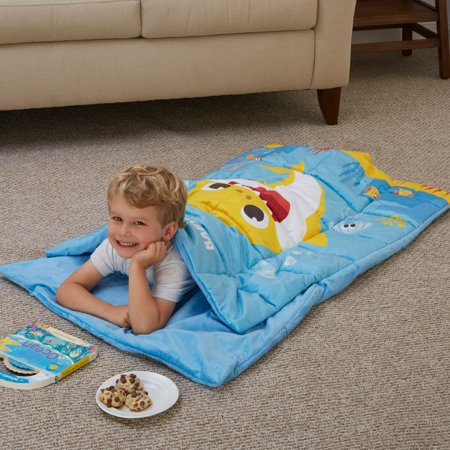 Baby Shark Kids Weighted Blanket Slumber Bag, 5lb, Swim with Me
