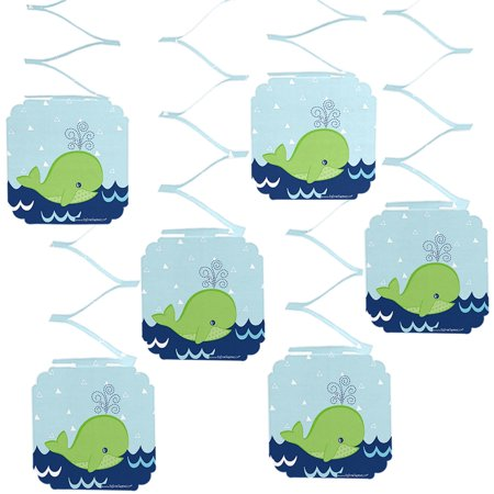 Tale Of A Whale - Party Hanging Decorations - 6 Count (Whale Decorations)