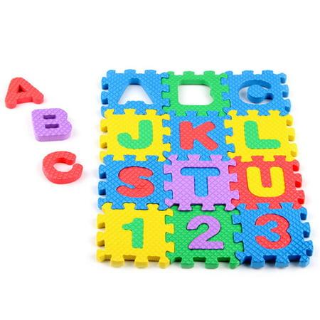 Mini 36pcs EVA Puzzle Kid Toy Alphabet Letters Numeral Foam Mat Education