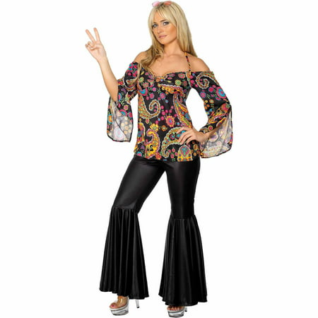 Hippie Plus Costume Women's Adult Halloween Costume - Working On Halloween