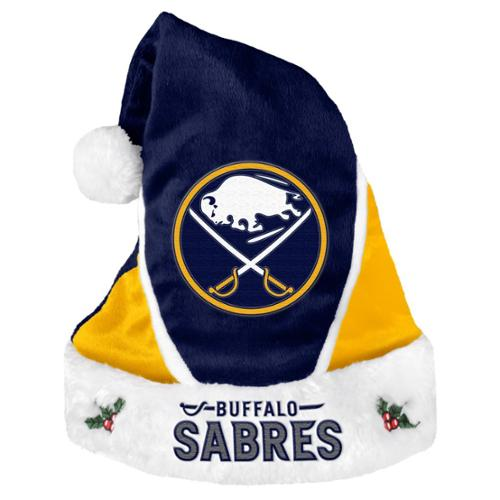 Buffalo Sabres Official NHL 17 inch  Colorblock Christmas Santa Hat by Forever Collectibles