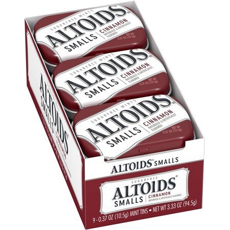 Image of Altoids Smalls, 0.37 oz Tins (Pack of 9), Multiple Flavors Available