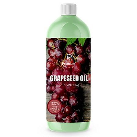 Aceite de uva aceite portador natural - 32 oz Luz y sedosa crema hidratante rico en ácidos grasos Omega Previene el envejecimie