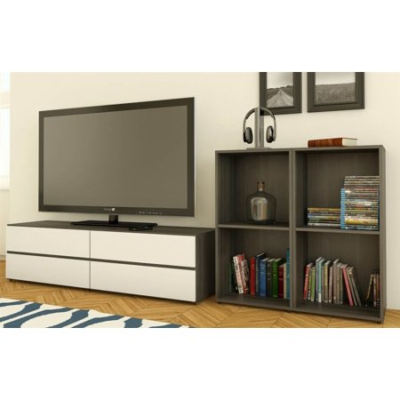3-Pc Eco-Friendly Modern Entertainment Set in Ebony