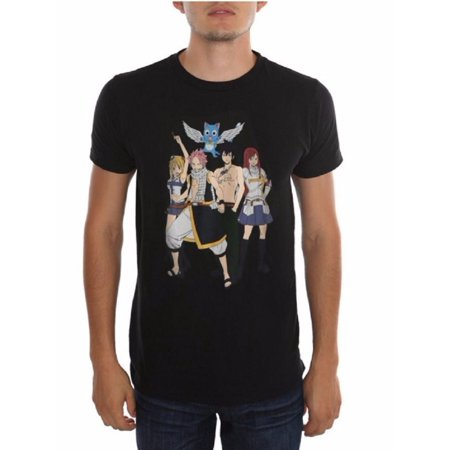 Fairy Tail Main Group Anime Adult T-Shirt - Best Adult Anime