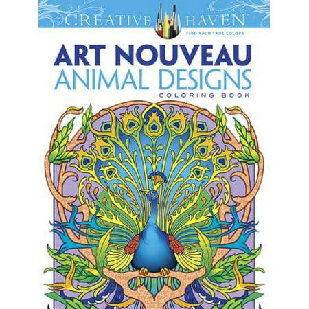 CH:ART NOUVEAU ANIMAL COLORING BOOK