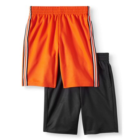 Athletic Works Dazzle Shorts Value, 2-Pack Set (Little Boys & Big (And 1 Boys Shorts)
