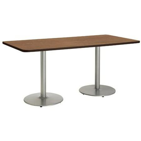 KFI Studios Mode 3.5' x 8' Dining Table, Designer White, Black
