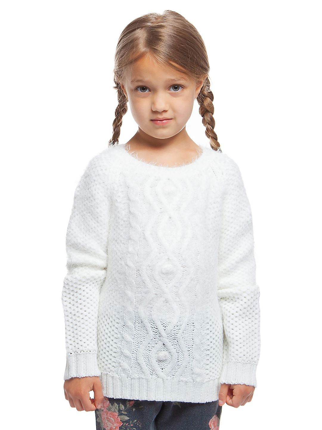 Little Girl's Ivy Cable-Knit Sweater