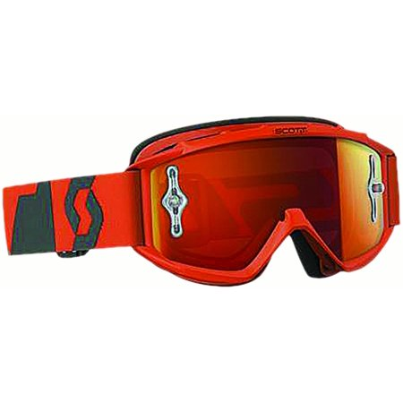 89SI PRO YOUTH OXIDE GOGGLE ORG/GREY W/ORANGE CHROME LENS