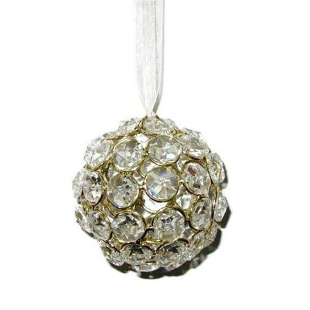 Elegance Heim Concept Crystal Ball Ornament - Gold Colour
