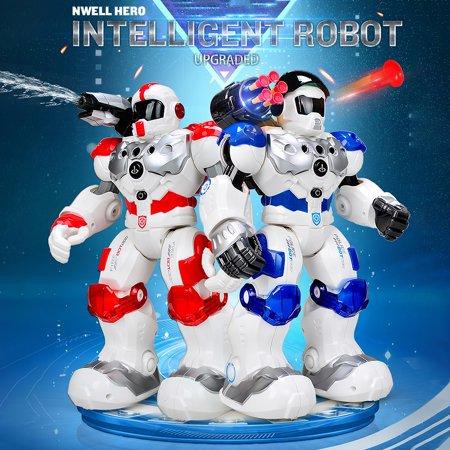 9088 Hero Fireman Intelligent Robot Programmable Gesture Sensing Music Dance Toy for Kids