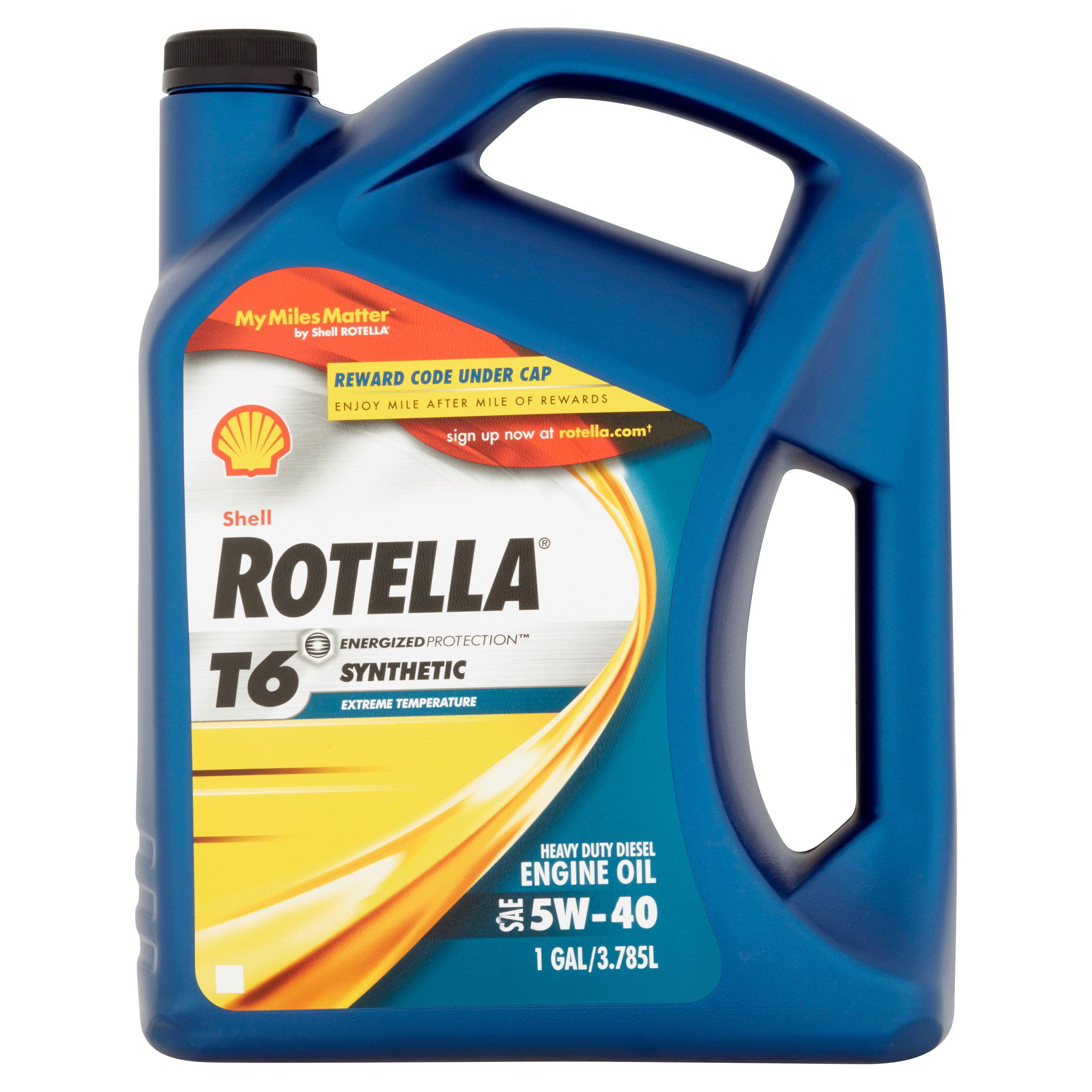 Shell Rotella Synthetic 5w 40 Motor Oil 1 Gallon