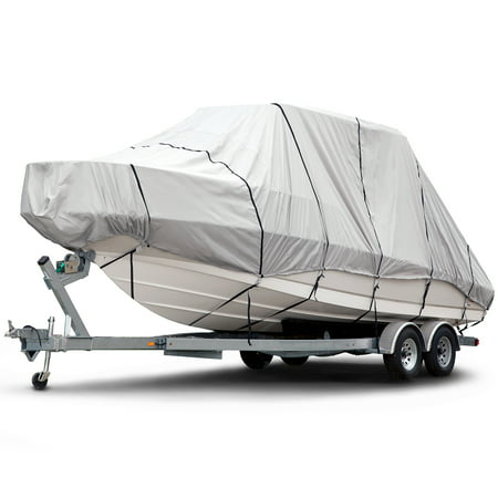 Budge 1200 Denier Hard Top / T-Top Boat Cover, Waterproof, Premium Outdoor Protection for Hard Top / T-Top Boats, Multiple (Best Waterproof Boat Cover)