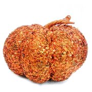 Orange Sequin Pumpkin Decoration